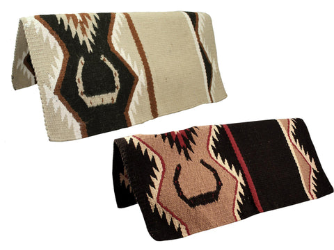"""Western Wool Saddle Show Pad Blanket 36/"""" x 34/"""" NEW Leather Hand Carving"""