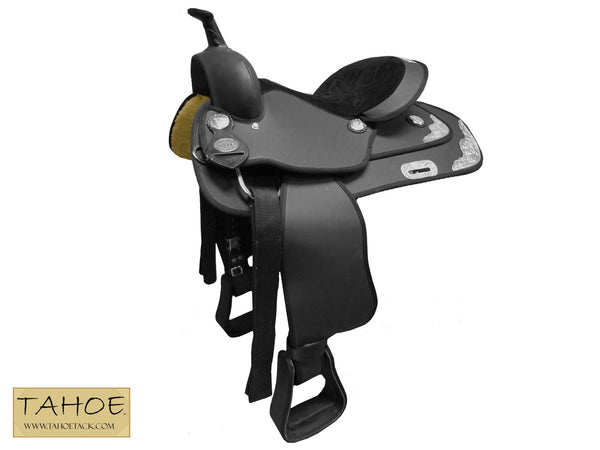 Midnight Rider Western Synthetic Pleasure Riding Saddle