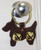 Tahoe Sleigh Bell Leather Door Hanger Scottie Dog