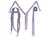 Tahoe Tack Silver Heart Concho Nylon Headstall, Breast Collar, and Reins Set