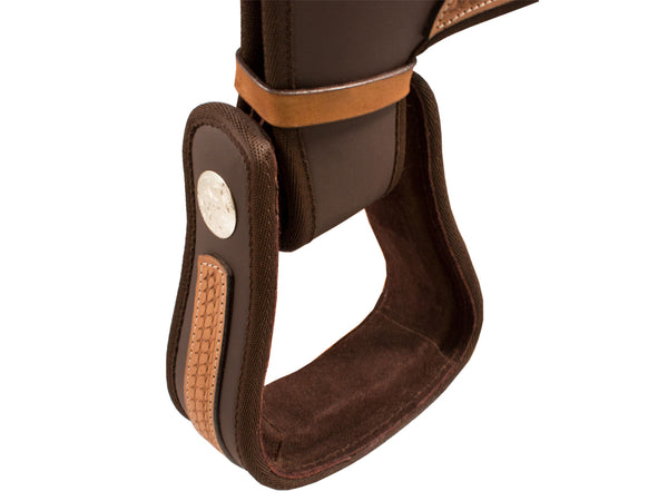 Tahoe Synthetic Basket Weave Leather Western Saddle