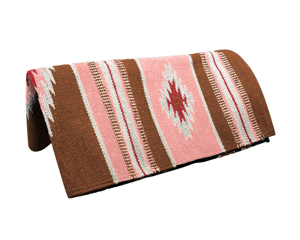 "Tahoe Tack Navajo Multicolored Handwoven Acrylic 32x64"" Saddle Blanket"