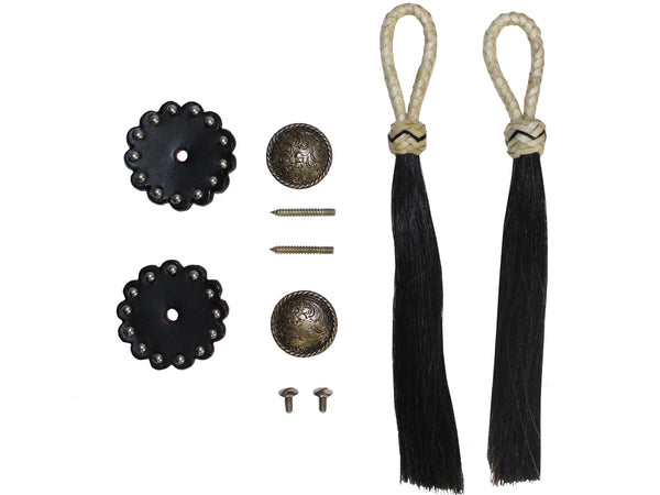 Western Tassel, Concho and Rosette Set - One Pair