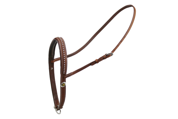 Tahoe Tack Silver Texas Star Padded Leather Western Horse Noseband