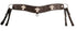 Tahoe Sunspots Floral Tooled Cross Inlaid Tripper Collar