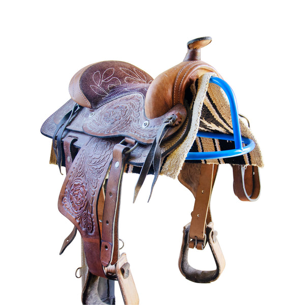 Derby Wall Mount Western or English Saddle Rack with Bridle Hook