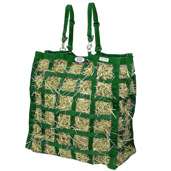 Derby Originals Easy Feed Slow Feed Hay Bag with 1 Year Warranty and Patented Four Sided Design