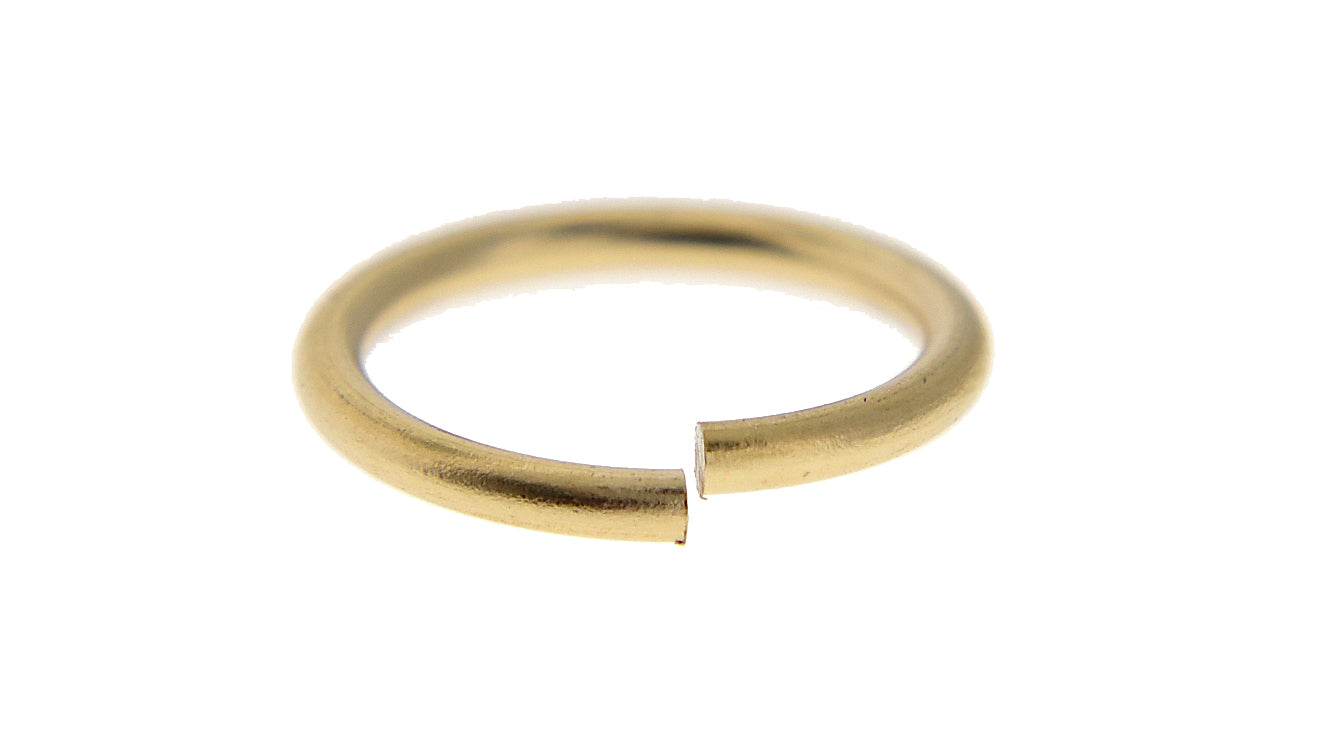 14k Solid Yellow White Gold or Sterling Silver Round Jump Ring 9mm Inside Diameter Gauge 16 18 20 Jewelry Findings