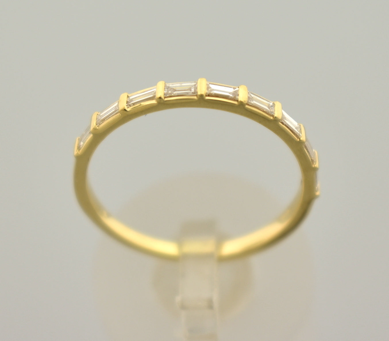 Platinum 14k Gold 1/4 CTW Diamond Baguette Wedding Anniversary Ring Band