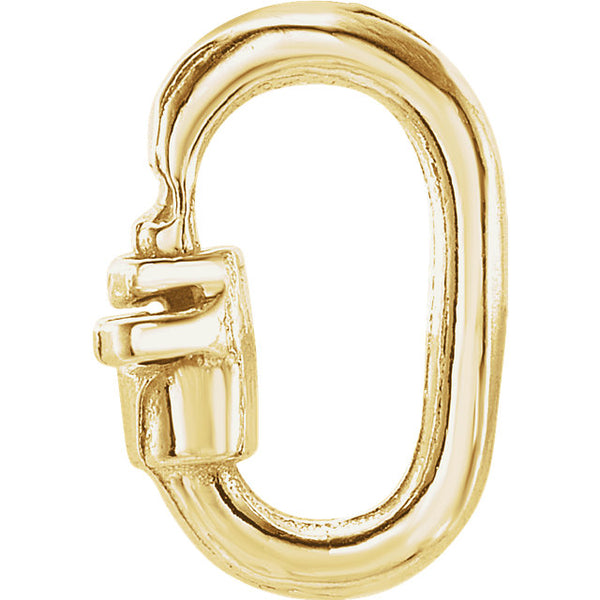 14k Yellow Gold or Sterling Silver 8mm x 5mm OD 1.2mm Thick Link Lock Jump Ring No Soldering