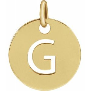 14k Yellow Rose White Gold or Sterling Silver Block Letter G Initial Alphabet Pendant Charm Necklace