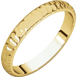 Load image into Gallery viewer, 14k Yellow Gold 4mm Hammer Finish Wedding Band Ring Half Round Light
