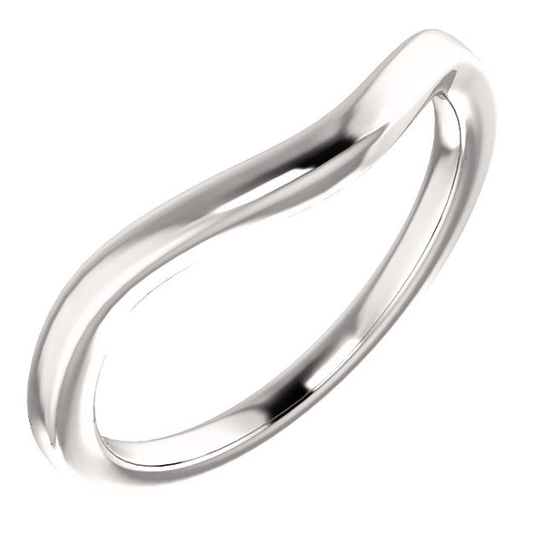14k White Gold Matching Wedding Band for a 6.5mm Round Ring