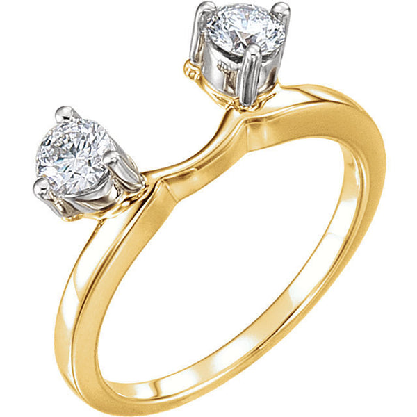 14k Yellow Gold 1/2 CTW Diamond Ring Enhancer Wrap Style Personalized Engraved