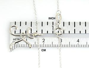 14k Gold or Sterling Silver .03 CTW Diamond Script Letter K Initial Necklace