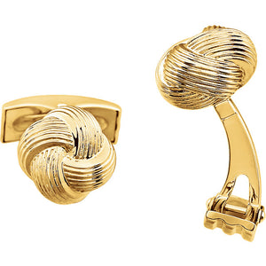 14k Yellow or 14k White Gold 12mm Knot Cufflinks Cuff Links