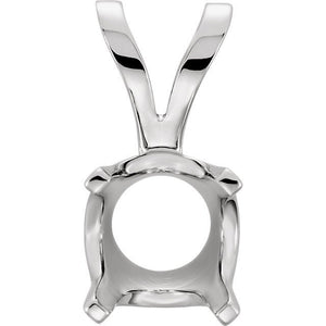 14K Yellow White Gold 4 Prong Low Base Pendant Mounting Mount for Diamonds Gemstones Stones