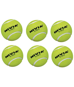 Nivia Yellow Heavy Tennis Ball - 6 Pack