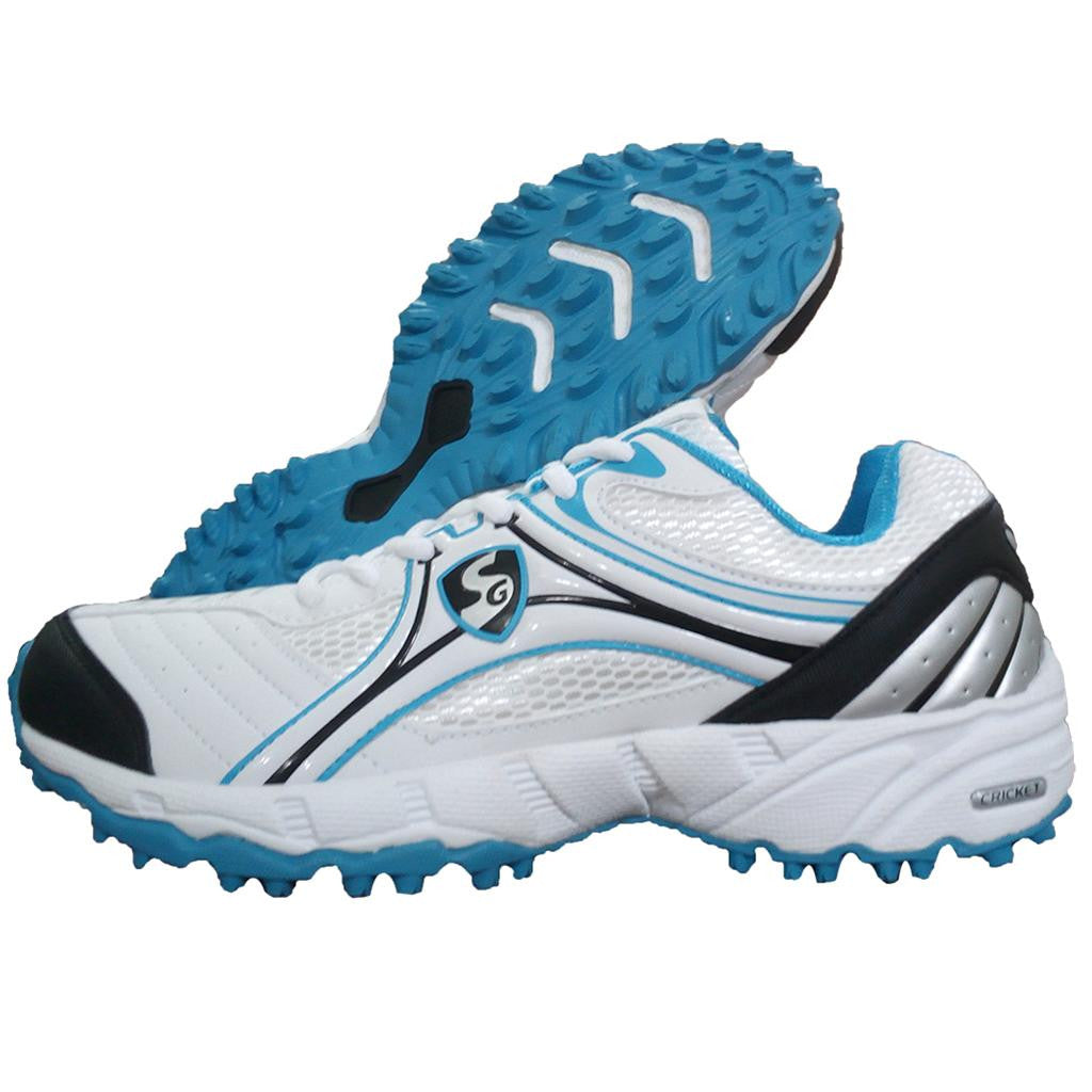 SG Steadler IV Blue Rubber sole Cricket Shoe