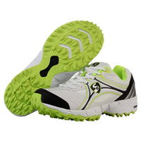 SG Steadler IV Green Rubber Sole Cricket Shoe