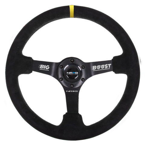 NRG REINFORCED STEERING WHEEL RST-036MB-S-Y-BOOST (LIMITED EDITION)