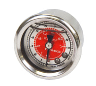 NRG Fuel Regulator Gauge Red 100psi FRG-200RD