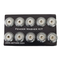 NRG Fender Washer Kit, Set of 10 (Gun Metal) Rivets for Plastic FW-100GM