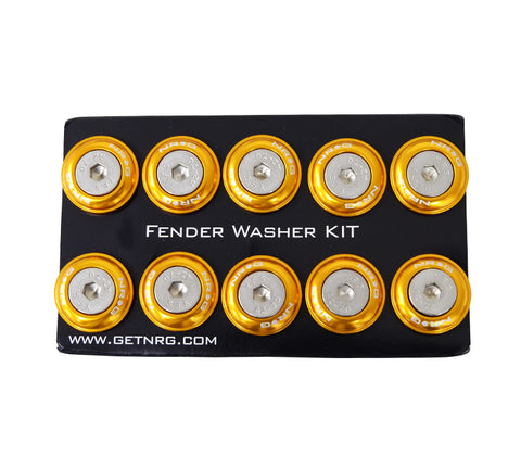 NRG Fender Washer Kit, Set of 10 (Rose Gold) Rivets for Plastic FW-100RG