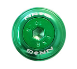 NRG Fender Washer Kit, Set of 10, GREEN with Color Matched Bolts, Rivets for Plastic FW-150GN