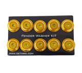 NRG Fender Washer Kit, Set of 10, ROSE GOLD with Color Matched Bolts, Rivets for Plastic FW-150RG