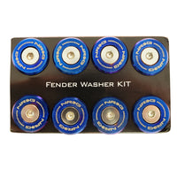 NRG Fender Washer Kit, Set of 10, M style, Stainless steel washer and bolt, Rivets for metal FW-380TS