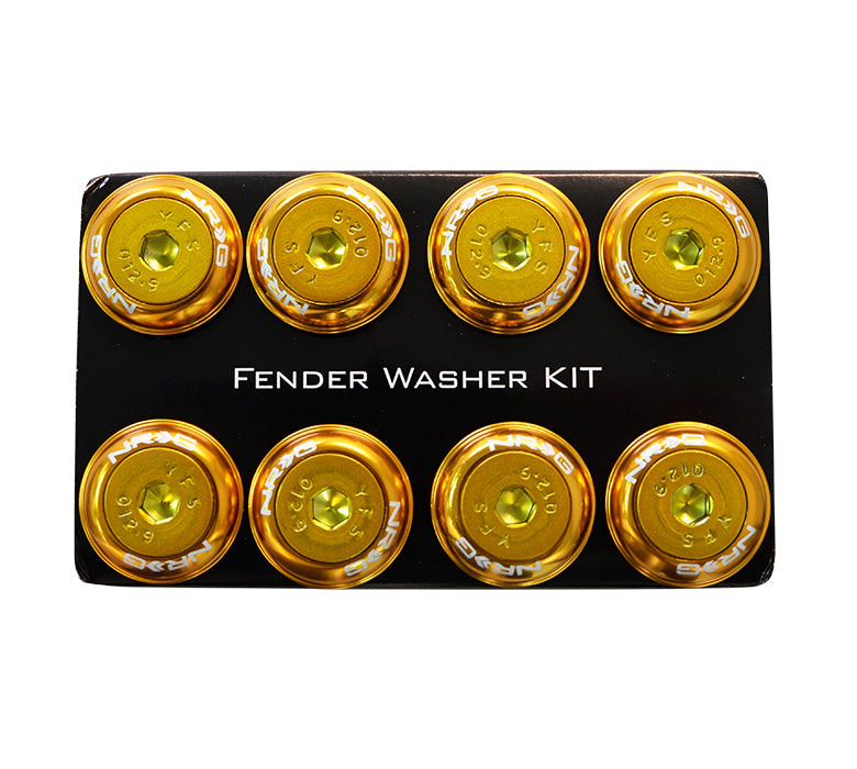 NRG Fender Washer Kit, Set of 8, Rose Gold with Color Matched Bolts, Rivets for Plastic FW-800RG