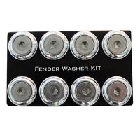 NRG Fender Washer Kit, Set of 8, Silver with Color Matched Bolts, Rivets for Plastic FW-800SL