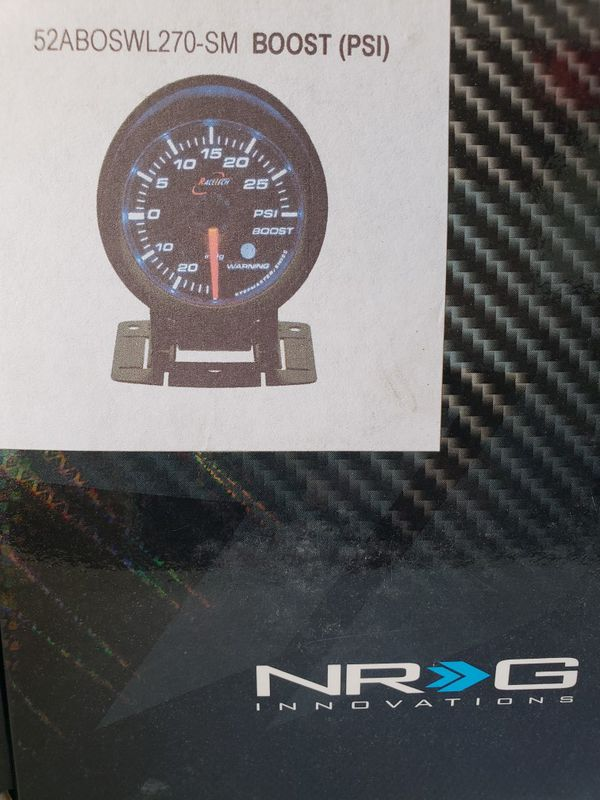 NRG 52MM ELECTRIC TURBO BOOST GAUGE LED PSI