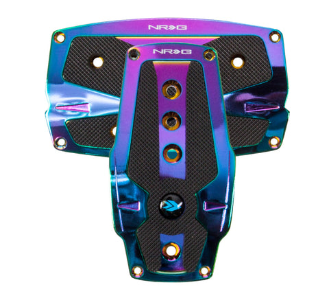 NRG Neochrome aluminum sport pedal w/ Black rubber inserts AT PDL-250MC