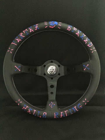Steering Wheel Vertex Speed Blue & Pink