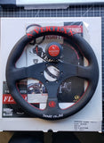 Vertex Steering Wheel Flat 325mm Red