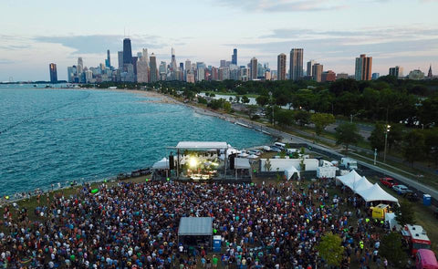 Umphrey's McGee playing Lakefront Green in Chicago