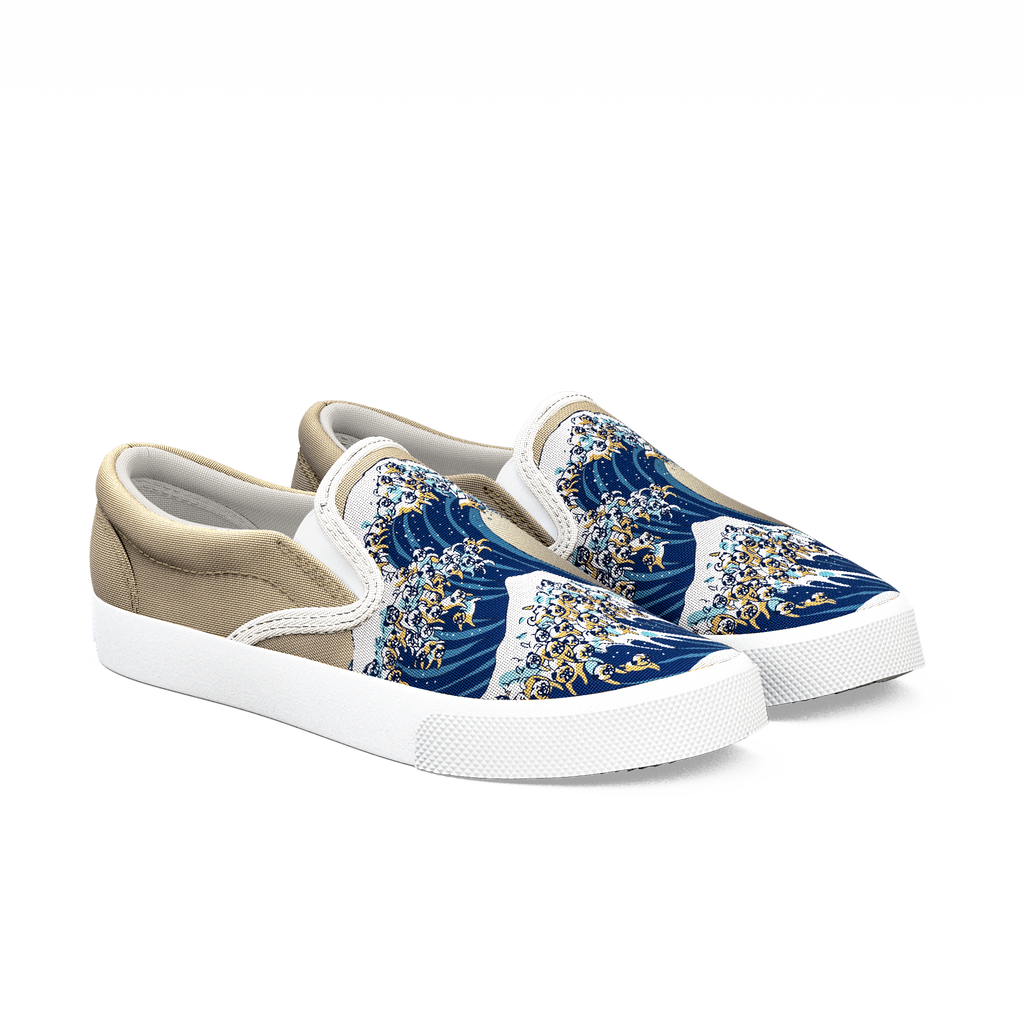 pug wave the great wave of pug bucketfeet 9432