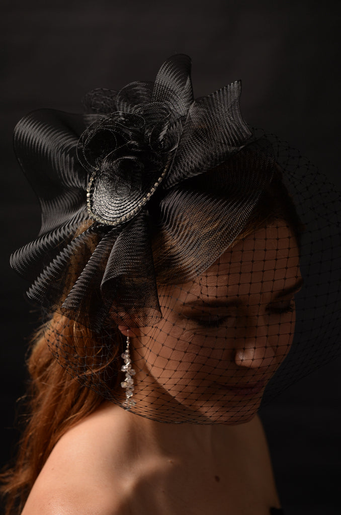 How about dramatic Halloween fascinator