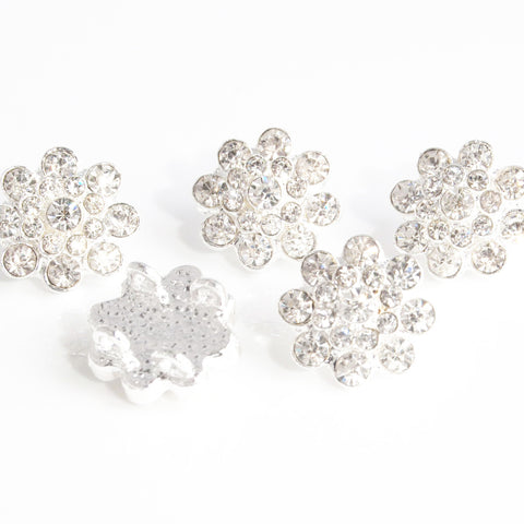 diamante flower beads
