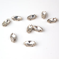 15mm Oval high quality clear diamante beads for arts and crafts
