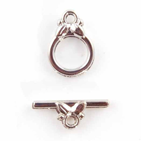 BDi antique silver toggle clasp