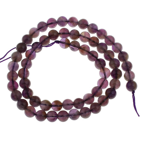 6mm round natural amethyst beads