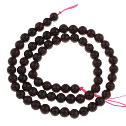 6mm round natural garnet beads.  Semi precious beads in a rich deep red colour for beaders