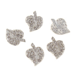 1cm diamante leaf components for making tiaras or for jewellery making components.