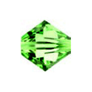 Swarovski 5301 Bicones - Peridot (4mm), Pack of 20