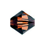 Swarovski 5301 Crystal Bicones - Smokey Topaz (6mm), Pack of 10