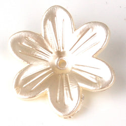 Special 25mm Ivory flower pearl jewellery bead for crafts