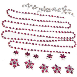 Diamante Flowers & Cupchain - Fuchsia